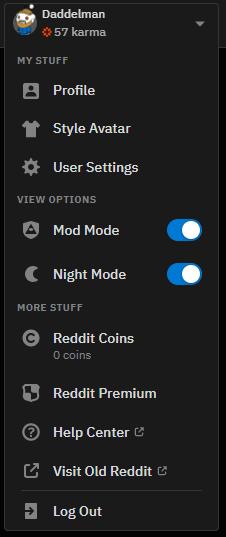 So ändern Sie einen Anzeigenamen auf Reddit: Registerkarte Profil