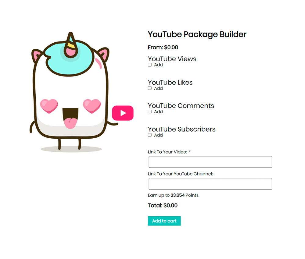 Youtube Package Builder