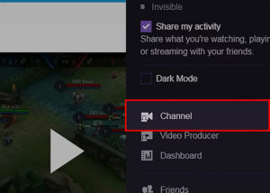 How to cost on Twitch - tap channel