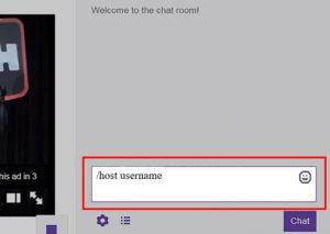 Etapa 3 - Toque / nome de usuário do host