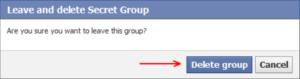 Appuyez sur Supprimer le groupe pour confirmer, ou vous pouvez annuler
