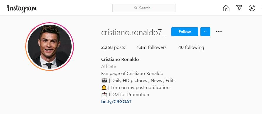 Fan page of Christiano Ronaldo